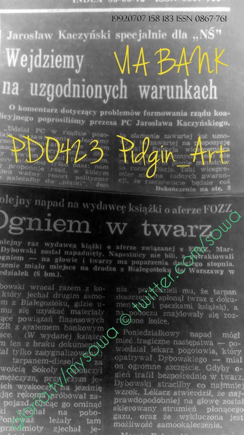 Nowy swiat Pidgin_Art PDO423